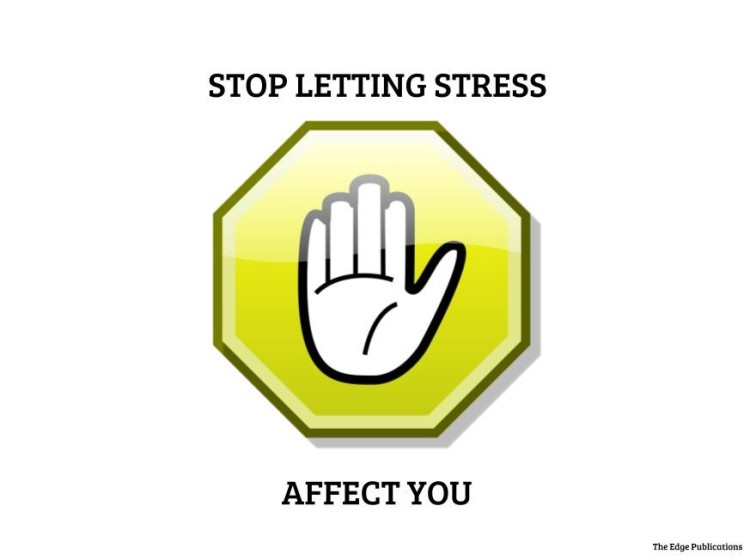 stop letting stress affect you stop sign